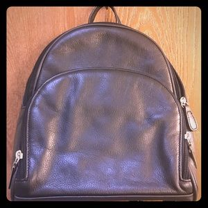 AURIELLE Black Leather Backpack